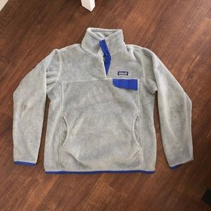 Patagonia Gray Re-tool snap-t fleece pullover